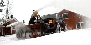 badass jeep cherokee sportbike powered jeep mounted snowblower murders winter with