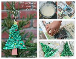 tree ornament using newspaper and flour buggy