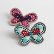 embroidered butterfly brooch by honeypips notonthehighstreet com