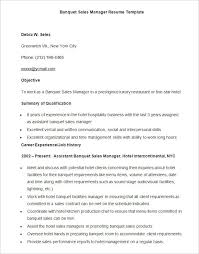 sales manager resume template sle banquet sales manager resume template download11 templates
