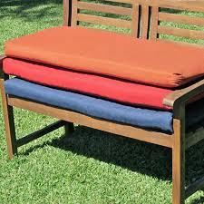 blazing needles outdoor standard solid patio bench cushion 56 x