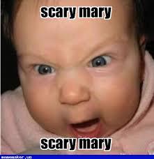 Mary Meme - cool meme in http mememaker us scary mary evil baby meme