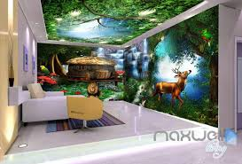 wallpaper for entire wall 3d forest animals fantacy world entire room bedroom wallpaper wall