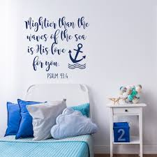 bible verse wall decal mightier than the waves of the sea is details bible verse wall decal