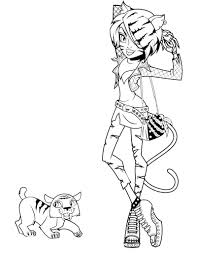 monster high pets coloring pages posts related to toralei stripe