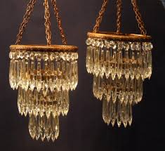 French Chandelier Antique Vintage Chandelier New 215 Antique Crystal Chandelier Pair