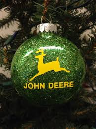 tree ornament deere farm logo craft