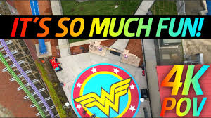 Directions To Six Flags St Louis 4k Pov Wonder Woman Lasso Of Truth Six Flags Discovery Kingdom