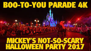 when is mickey halloween party mickey u0027s boo to you halloween parade 2017 mickey u0027s not so scary