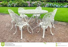vintage garden table and chairs stock photo image 26501416