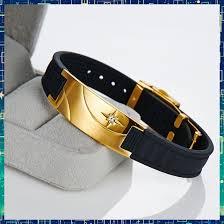 rubber power bracelet images B9008 noproblem gold antifatigue infrared ion scalar energy power jpg