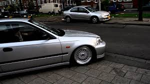 lexus sedan jdm stance ek going over speedbump youtube