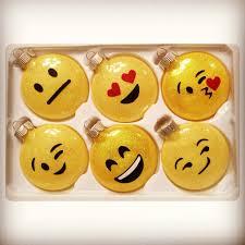 diy glitter glass emoji ornaments made w silhouette
