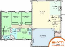 maison plain pied 5 chambres plan newsindo co