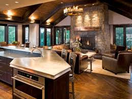 how to decorate an open concept kitchen living area house plans