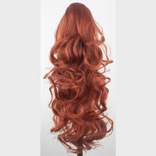 Human Hair Extensions With Clips by Ponytail Clip In Hair Extensions Copper 350 Reversible 4 Styles