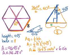 Area Formula by Geo 8 1 5 Calculating The Area Of A Regular Hexagon Math