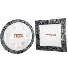 seder set passover gifts silver dust marbled glass seder set by tamara baskin