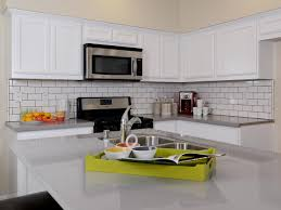 Backsplashes For White Kitchen Cabinets White Tile Backsplash Kitchen White Kitchen Makeover With Marble