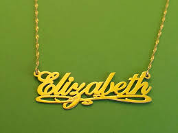 Real Gold Necklace With Name Solid Gold Name Necklace The Sweet Gold Name Necklace U2013 Jewelry