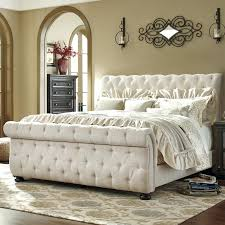 Tufted Sleigh Bed King Upholstered Sleigh Bed King Upholstered Sleigh Bed Elkar Club