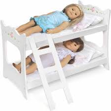 Badger Basket White Rose Doll Bunk Bed Fits Most  Dolls  My - Dolls bunk bed