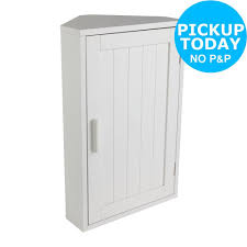 home wooden corner bathroom cabinet whitefrom the official argos
