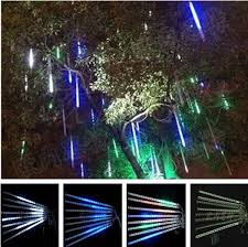 led meteor shower tube lights 60cm 1 tube diy hollow led meteor shower snowfall waterfall rain