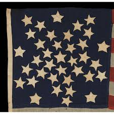 Garrison Flag Size Jeff Bridgman Antique Flags And Painted Furniture 37 Stars In A