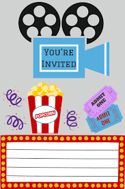 printables printable movie night invite