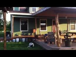 my big front deck covered porch cedar posts how we did it