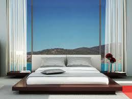 bedroom king size platform bed frame with drawers on light wood