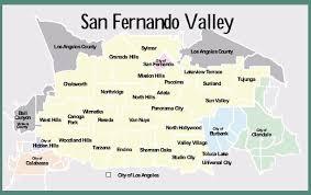 studio city map san fernando valley map my
