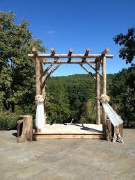 wedding arch log rustic wedding arbor