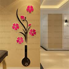 Acrylic Flower Vases Aliexpress Com Buy 2015 New Diy Crystal Acrylic 3d Wall Stickers