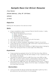 Examples Of Medical Resumes Driver Resume Sample Doc Resume For Your Job Application