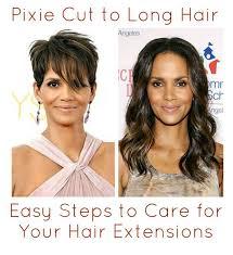pixie to long hair extensions hair extensions pixie haircut hair
