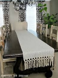 Dining Room Table Runners Diy Macrame Fringe Table Runner Driven By Decor