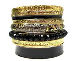 black leather crystal bracelet images 61 best fashion bracelet and bangle set indian jewelry images on jpg