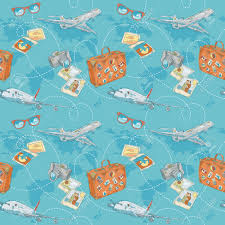Holiday World Map by Travel Seamless Pattern With Plane Bag Camera And World Map