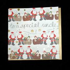 to a special uncle christmas card karenza paperie