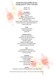 Easter Brunch Buffet Menu by Bunnies Eggs And Mimosas Oh My The Haute 5 Easter Feasts In