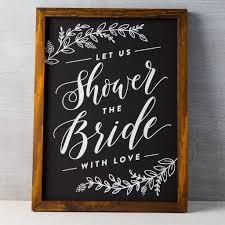 bridal shower chalkboard walnut stain bridal shower chalkboard