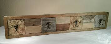 amazon com rustic coat rack or hat rack made with reclaimed wood