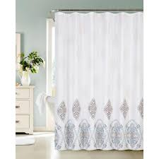 13 piece waffle shower curtain with fresco medallions 13fmwscbp