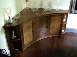 curving wooden designer bespoke sideboard with storage