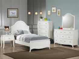 dominique 4 youth bedroom set in white finish by coaster
