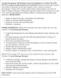new massage therapist resume examples unforgettable massage