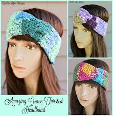 crochet hairband amazing grace twisted headband free crochet pattern