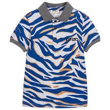 kids boys tiger print polo shirt childrensalon
